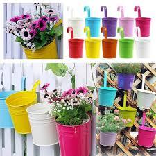 aliexpress com buy 5pcs set metal bucket flower hanging pot