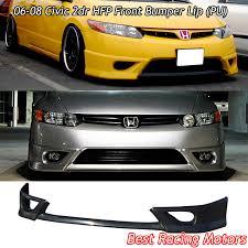 ebay honda civic parts hfp style front bumper lip urethane fits 06 08 honda civic 2dr
