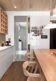 modern apartment kitchen designs a modern apartment celebrates the look of natural wood