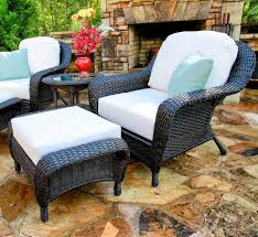 the lexington all weather wicker club chair u0026 ottoman bundle