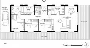 plan plain pied 3 chambres plan maison plain pied 1 chambre lovely luxe plan de maison plain