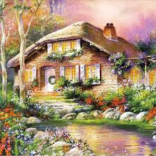 popular cottages paintings buy cheap cottages paintings lots from