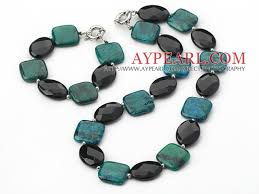 chunky crystal necklace sets images Fashion chunky style black oval shape crystal and square phoenix jpg