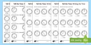 o u0027clock and half past activity sheets o u0027clock worksheet tell