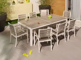 salon jardin 8 personnes salon de jardin 8 places en aluminium et composite 1 table 212 5