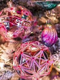 setting with belgian designed festive ornaments and