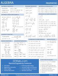 algebra help math sheet electronics and electrical engineering