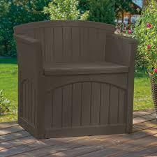 suncast premium 22 gallon deck box with seat ss1000 hayneedle