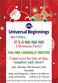 ub invitation for christmas party the universal ghatkopar