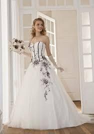 robe de mari e noir et blanc de mariage noir et blanc