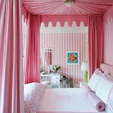 Pink Canopy Bed Princess Canopy Bed Transitional S Room Hepfer Designs