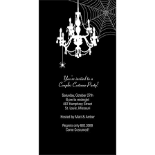 chandelier web scary halloween party invitations halloween