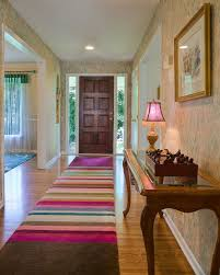 Area Rug On Carpet Decorating Industrial Area Rugs Entry Eclectic With Carpet Runner Table Lamp