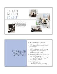 Ethan Allen Home Interiors Ethan Allen Interiors Eth Investor Presentation Slideshow