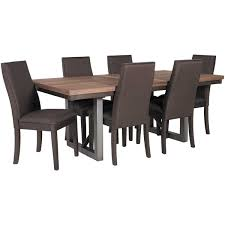 spring creek 7 piece dining set 106581 7pc coaster furniture afw