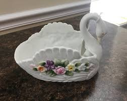 porcelain svan ring holder images Swan ring holder etsy jpg