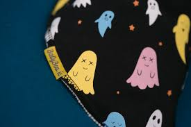 halloween bibs black ghosties bandana bib babyboo ie