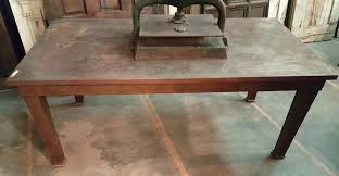 sheet metal and steel dining table antiquities warehouse