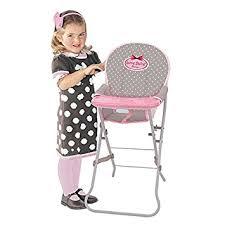 chaise haute poup e bebe chaise haute pour poupée amazon fr jeux et jouets