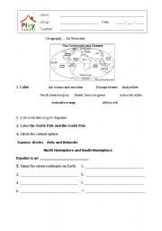 english worksheets grade 2 first geography test
