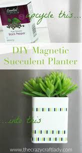 diy magnetic succulent planter simple diy super simple and upcycle