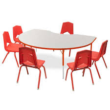 activity table and chairs marco group one youth kidney activity table six 16 stack chair