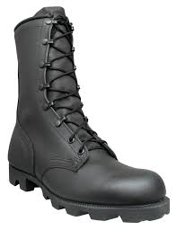 mcrae mens black leather combat panama military boots u2013 workwear