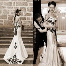 black and white wedding dress vintage classic wedding dress black and white wedding