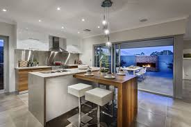 modern kitchen island with breakfast bar kitchen and decor