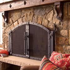 Outdoor Fireplace Accessories - custom fireplace screen coastal cottage pinterest custom