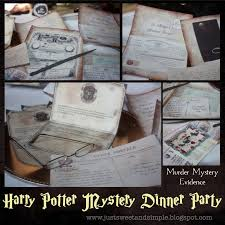 just sweet and simple harry potter mystery dinner party