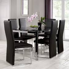 Glass Dining Table And 6 Chairs 6 Seater Glass Top Dining Table Set Best Gallery Of Tables Furniture