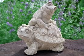 outdoor garden decor frogs photograph frog turtle outdoor
