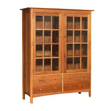 solid oak china cabinet modern shaker china cabinet made in the usa solid wood bookcase