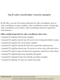 Resume Sample Sales by Top8salescoordinatorresumesamples 150426011549 Conversion Gate01 Thumbnail 4 Jpg Cb U003d1430016255