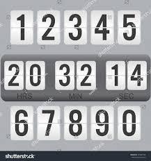 flip countdown timer vector clock counter stock vector 725941966