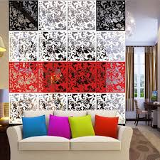 8pcs hanging screen partition room divider butterfly flower wall