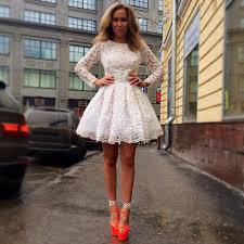white 8th grade graduation dresses 2015 lace sleeves white lace graduation dresses morden above