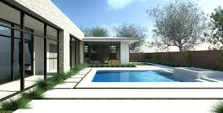 ideas modern pools and glass windows plus wooden fence for