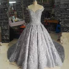 silver wedding dresses real pictures gown bling wedding dress luxury white ivory