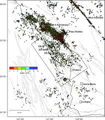 San Simeon Map Seismotectonics And Fault Structure Of The California Central
