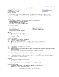 Chemical Engineering Internship Resume Samples by Resume Resume Electrical Engineer