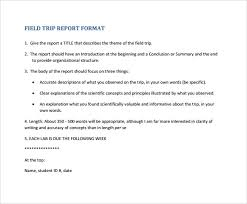 field report template sle trip report 18 documents in word pdf