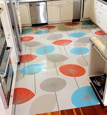 Retro Linoleum Floor Patterns by Beautiful Colorful Umbrella Patterns Kitchen Floor Mat In Wooden