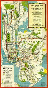 Queens Subway Map by New York Subway Map Circa 1948 Viewing Nyc