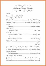 template for wedding program wedding program sle sop