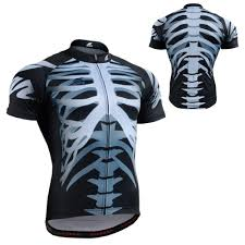 light waterproof cycling jacket novelty fixgear mens short sleeve skull cycling jersey mtb road