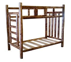 Rustic Cedar Log Bunk Beds With Built In Ladder Free Shipping - Log bunk beds