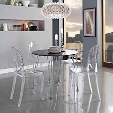 glasses table with nice ghost chairs lucite designer applied on