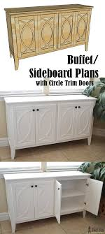 buffet sideboard cabinet storage kitchen hallway table industrial rustic diy buffet sideboard with circle trim doors tool belt